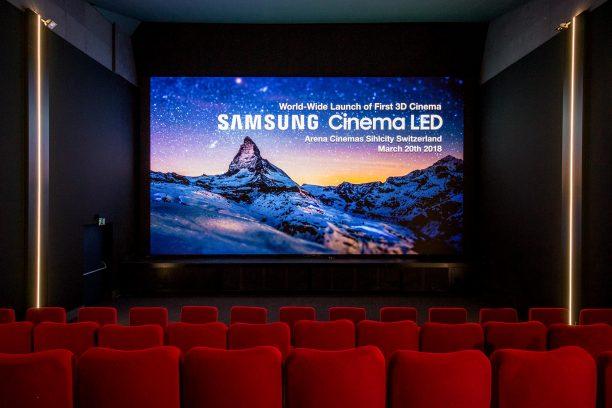 3D Cinema LED Screen: Erstes Kino in Zürich eröffnet